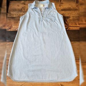 Faded Glory Denim Sleeveles Dress Size Large 12-14